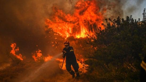 Yunanistan orman yangınları: Atina dışında yeni alevler yanıyor